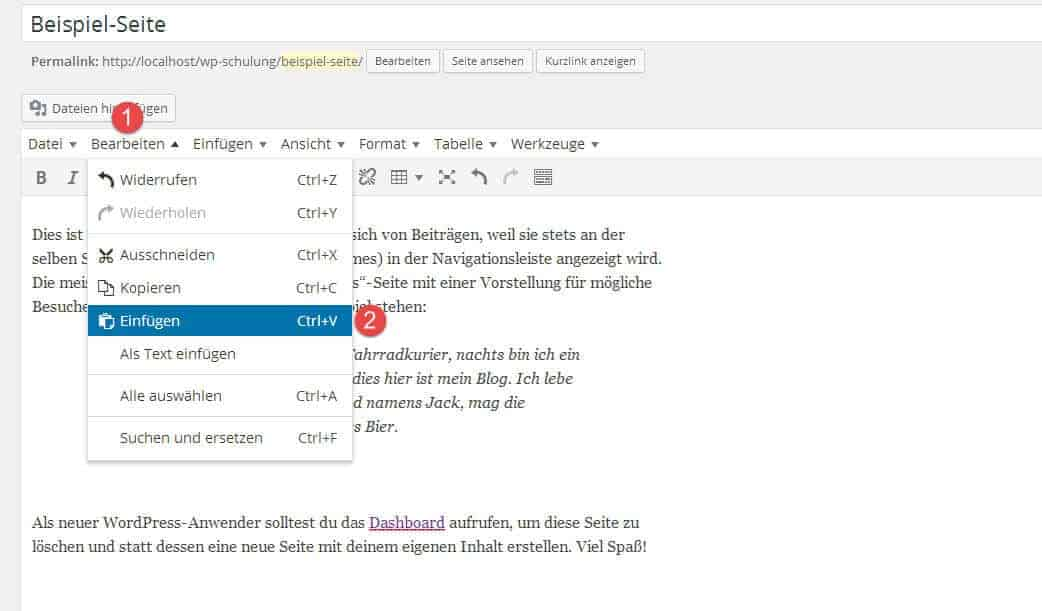 WordPress: Youtube Video richtig einfügen