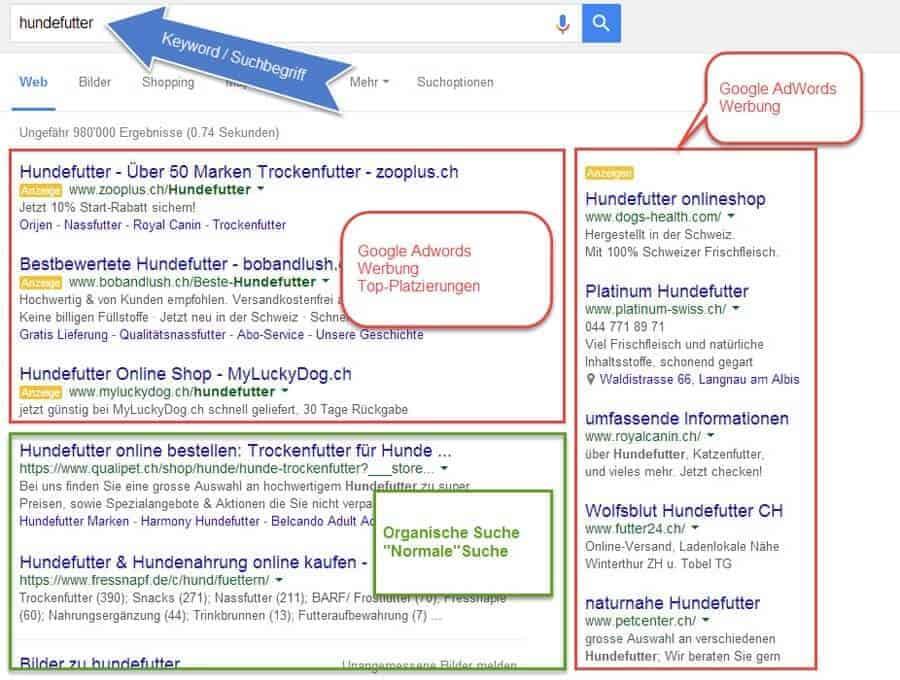 Alte Google Suche