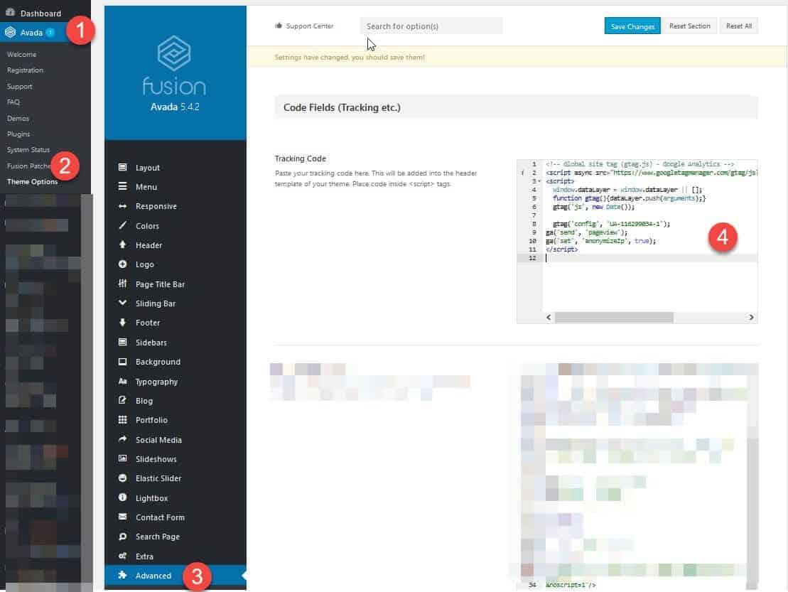 Avada Google Analytics