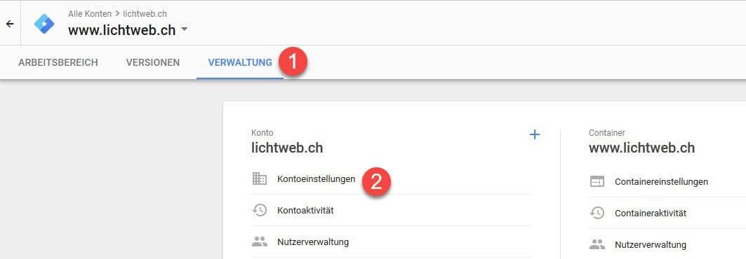 Google Tag Manager (DSGVO / Schweiz)